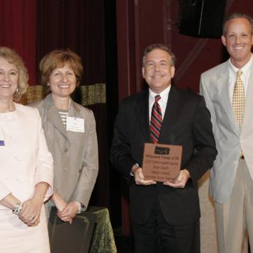 Rep. Freeman receives the Public Official Smart Growth Visionary Award as a part of the 2009 Commonwealth Awards Program sponsored by 10,000 Friends of Pennsylvania. Pictured are Caroline Boyce, executive director of the American Institute of Architects PA; Judy Schwank, president of 10,000 Friends; Freeman; and Eric Menzer, 10,000 Friends board chairman and vice president of Wagman Construction.