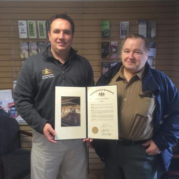 Jack Seymore has given more than 40 years of dedicated service to the Cambria Alliance Emergency Medical Services and the Altoona Mobile Emergency Department, so Rep. Burns was pleased to present him with a House citation recognizing his extraordinary community spirit.