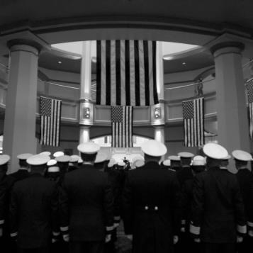 The U.S. Navy's held ceremony at the State Capitol marking the anniversary of the attack on Pearl Harbor.