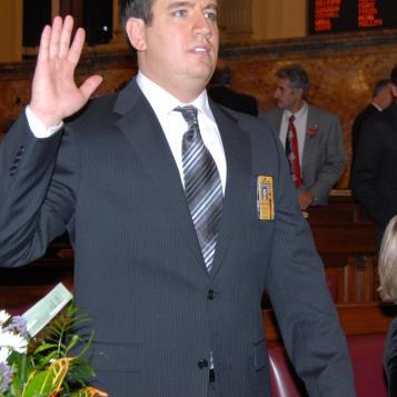 Rep. Burns took the oath of office on Tuesday, Jan. 6, 2009.
