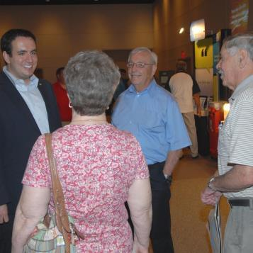 Rep. Burns speaks to a group of constituents that came to the Energy Fair he co-sponsored with Rep. Barbin and Rep. Haluska. To see more photos from the May 12 event, check out Rep. Burns' other galleries.