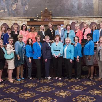The female members of the Pennsylvania House come together to raise awareness for lung cancer, which is the number one cancer killer of women in the United States, during Women's Lung Health Week.