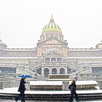 Photo of the Day – It's a snowy day at the Capitol.