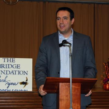Rep. Burns at a Bridge Educational Foundation event in Johnstown to present scholarship money through Pennsylvania's Educational Improvement Tax Credit Program.