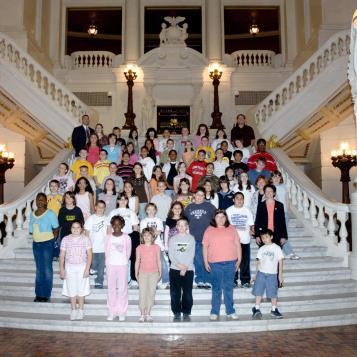Students from Wilson Borough Elementary visit the Capitol on May 13, 2008.
