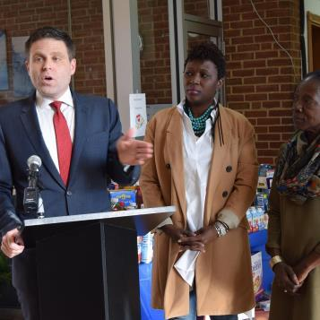 State Rep. Jared Solomon hosted a news conference at the Bustleton Child Learning Center to discuss the need for quality child care across Pennsylvania.