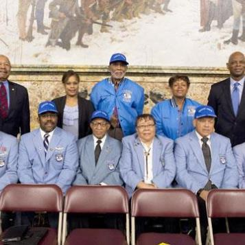 Rep. Stephen Kinsey was honored to welcome to Harrisburg surviving Tuskegee Airmen, which is the popular name for the group of African-American military pilots who fought in World War II.