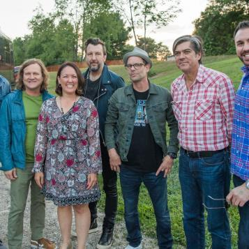 "The Gin Blossoms rocked the crowd during the Humane Society of Northwestern Pennsylvania's ""Rock & Rescue"" charity concert. Band members took time out to meet with Rep. Bizzarro and Kristen Tullo, the society's state director, during the Aug. 12 event."
