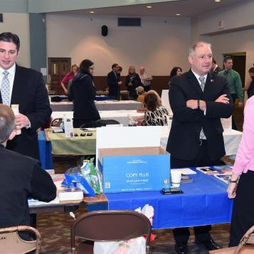 Today's Photo of the Day shows Rep. Dan Miller and Rep. Brandon Neuman meeting with participants at Rep. Miller's Children and Youth Disability and Mental Health Summit. The event is designed to aid children with mental issues and physical disabilities in accessing helpful programs and services.