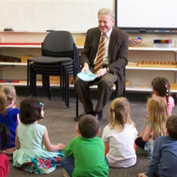 Rep. Robert Freeman reads to children at Northampton Community College's Reibman Hall Children's Center as part of Week of the Young Child. He read 'Number One Sam' by Greg Pizzoli. The Week of the Young Child is an annual celebration sponsored by the National Association for the Education of Young Children to focus on the needs of young children and their families and recognize the early childhood programs and services that meet those needs.