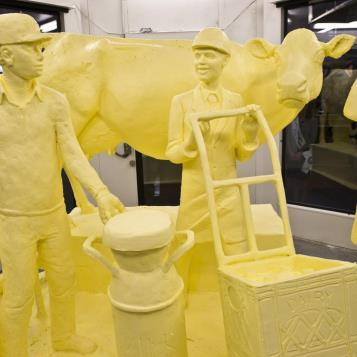 The 2018 butter sculpture is revealed to kick off the start of the Farm Show, who's theme this year is 'Strength in Our Diversity.'  The Farm Show is the Keystone State's largest agricultural event.