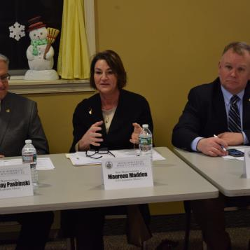 Rep. Madden attended a policy committee hearing in Dunmore to discuss state and local transportation issues. (2/27/19)