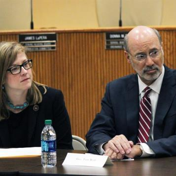 Rep. Leanna Krueger-Braneky was joined by Governor Tom Wolf for a hearing on the opioid crisis sweeping across Pennsylvania.