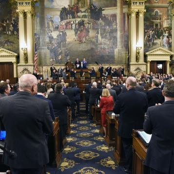 Lawmakers react to Gov. Wolf's annual budget address, which this fiscal year is calling for additional funding for education, more emphasis on fighting the opioid crisis, and raising the state's minimum wage.