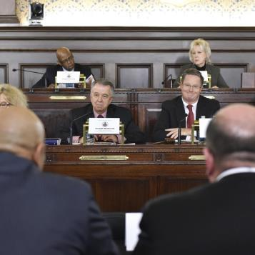 Members of the state House Appropriations Committee participate and in a question and answer session with testifiers from the Department of Corrections as the second week of state budget hearings come to an end.
