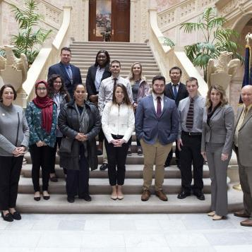 Rep. Maureen Madden welcomes a group from East Stroudsburg University to the state Capitol.