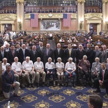 Honoring their bravery and sacrifices, House members recognize surviving veterans who stormed the beaches at Normandy on the 75th Anniversary of D-Day.