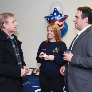 Open house for Rep. Burns' district office in Portage.