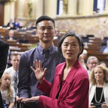 Rep. Helen Tai is sworn in as the newest House Democrat, representing the constituents of the 178th legislative district.